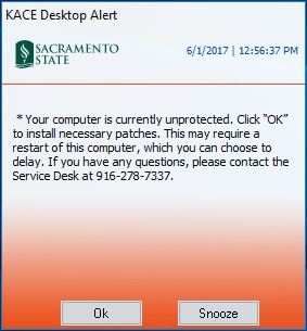 KACE Desktop Alert - PC